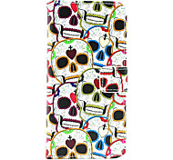 Lover Skull PU Leather Full Body Case with Card Holder for iPhone 6