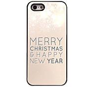 Buon Natale e felice nuovo caso duro di alluminio anno modello per iPhone 5 / 5s