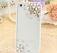 Fashion Transparent Frosted Rhinestone Flower Silicone Soft Case for iPhone 6S/6 Plus(Assorted Colors)