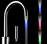 Mini sensor de temperatura de la corriente de agua con estilo rc-F901 luminosa luz del grifo de luz LED (de plástico, acabado en cromo)