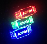 Happy LED Flashing Bracelet Design Plastic Party LED Light Stick