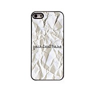 Personalized Phone Case - Paper Design Metal Case for iPhone 5/5S