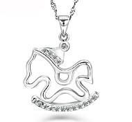 925 collana in argento del cavallo pony femmina questo animale anno zodiaco ciondolo