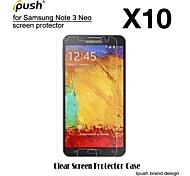 hohe Transparenz HD-LCD-Display-Schutz mit Putztuch für Samsung-Galaxie Anmerkung3 neo (10 Stück)