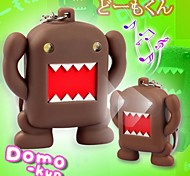 Lovely Japanese Style Domo-Kun LED Sound Keychain