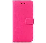 Lichee Pattern Wallet Leather Case for iPhone 6 (Assorted Colors)