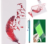 Red Feather Design PU Leather Full Body Case with Screen Protector, Stylus and Stand for Motorola MOTO X+1