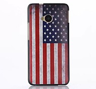 American Flag Pattern PC Hard Back Case for HTC M7