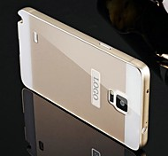 Two-in-one KX Brand Metal Frame Acrylic Mirror Backplane Metal Hard Case for Samsung Galaxy Note 4