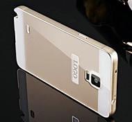twee-in-één KX merk metalen frame acryl spiegel backplane metalen koffer voor Samsung Galaxy Note 4