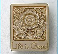 Leben ist gut Blume diy Fondantkuchen Schokoladensilikonform Kuchendekorationswerkzeuge, l6.6cm * w5.2cm * h2.3cm