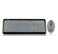 Pravix KM680 Luminous Wired Antibacterial Waterproof 1000 DPI Keyboard Mouse Kit