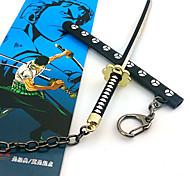 una pieza de 17 cm Zoro Roronoa clave negro accesorios de cosplay cadena