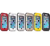 água / drop / metal de alumínio caso capa de pele à prova de choque para iphone 6 (cores sortidas)