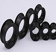 Mode unsex Silikon Doppel Flare Ohrstöpsel Flesh Tunnel Messgeräte Piercing Körperschmuck ein Satz von 2 12 mm