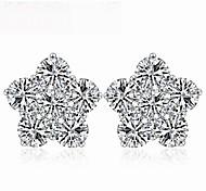 The Plum Flowe Earrings Jewelry,in 925 Sterling Silver Earrings Jewelry,Cubic Zirconia Earrings,Women's Earrings Jewelry