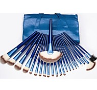 Hot Sale Professional Makeup Brush Set with 24Pcs Blue Brushes and Blue Bag