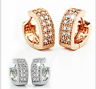 925 Sterling Silver lovely Double Diamond V Word Heart-Shaped Ear cCip Earrings