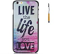 """LIVE the life you LOVE""  Words On Ocean Pattern PC Hard Back Cover Case for iPhone 6"