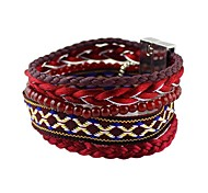 2014 New Coming Red-Tone Beads Rope Magnetic Braided Bracelet