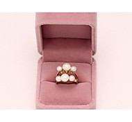Love Is Your Pearl Double Loop Band Ring
