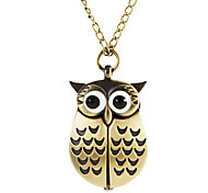 Women's Owl Style Alloy Band Quartz Necklace Watch (Assorted Colors) Cool Watches Unique Watches Fashion Watch