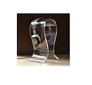U-Shaped Acrylic Headphone / Headset Hanger Holder Stand - Translucent White