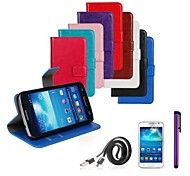 PU Leather Case with Screen Protector and Data Line and Stylus for Samsung Galaxy Express 2 G3815 (Assorted Colors)