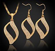 u7® nuevo platino 18k oro austríaco de la joyería de diamantes de imitación