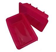 Toast-Backformen, Silikon 11,5 × 6,7 × 3 cm (4,5 x 2,6 x 1.2inch)