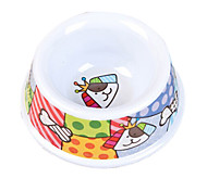 Cartoon Dog Pattern Food Bowl for Pets Dogs
