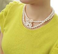 Mode Perle Blumenkette # 6-1
