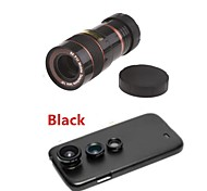 8X Telephoto Lens / Fisheye Lens/ Wide Angle & Macro Lens Kit with Back Case for Samsung Galaxy S4 I9500(Assorted Color)