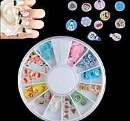 120PCS Christmas Style FIMO Canes Rods 3D Nail Art Decoration