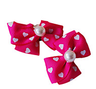 Haarnadel schönen bowknot für Haustiere Hunde (grün / lila / rot)
