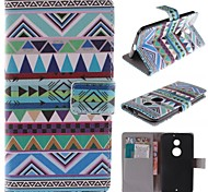 National Wind Patterns PU Leather Full Body Case with Stand and Card Slot for Motorola MOTO X+1 X2 XT1097