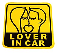 DIY Series LOVER IN CAR Design  PVC Decoration Sticker for Car