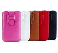 H Inserted with Side Whipstitch  PU Leather Pouches with Card Slot for Samsung Galaxy Note 3(Assorted Colors)