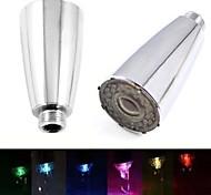 8009-a1 jet d'eau élégant lumineux coloré conduit de lumière de la lumière robinet (plastique, finition chrome)