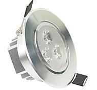 lohas® 3x1w 3-LED 300LM 6000K-6500K холодный белый свет потолочные лампы с водителем - серебро (AC 110-240V)