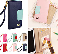 DF Colorful Little Bird PU Leather Full Body Case with Strap for Samsung S5 I9600 (Assorted Colors)