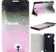 Charming Dandelion PU Leather Full Body Case with Card Slot for Nokia Lumia 630 635 630 DS 630 Dual SIM