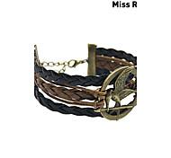 Miss ROSE®Multilayer Alloy Game Birds Handmade Leather Bracelets