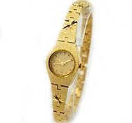 Women's Fashionable Style Crystal Dial Waterproof Gold Bracelet Quartz Watch