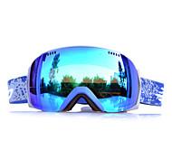 BASTO Blue Frame Baby Blue Sensor Skiing Snow Goggles