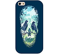 Skull Birds Pattern Back Case for iPhone 4/4S