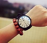 Mulheres Relógio de Moda Quartz Couro Banda Preta marca-
