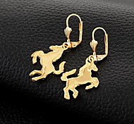 U7® Lovely Horse Drop Earrings 18K Gold Plated Mirror Polish Excellent Craft New Design Items Jewelry