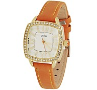 Julius® Women's Crystle Leather Band Quartz Fashion Watch(Assorted Colors)