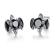 Chic (Bats) Titanium Steel Stud Earrings (Black) (1 Pair)